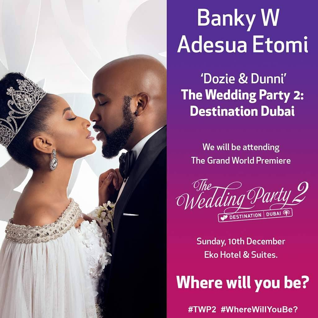 Banky Ws Movie The Wedding Party 2 Makes N73million In Just 3 Days After Hitting Cinemas