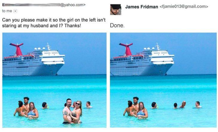 James Fridman, el trol de Photoshop vuelve a las andadas