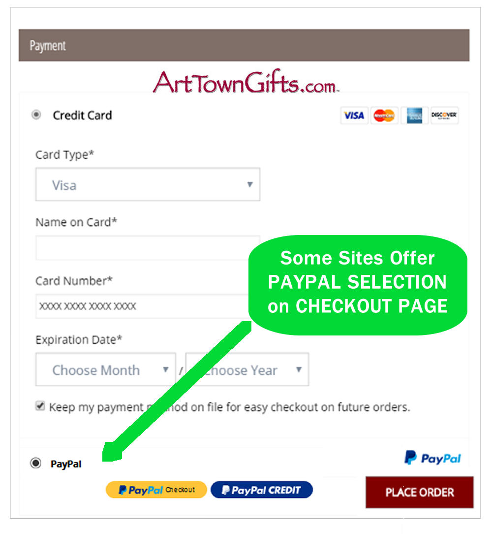 File Check Out Card how can i use paypal express checkout to shop? - gift ideas