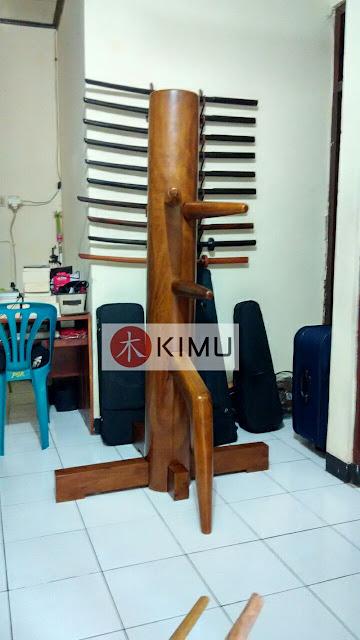 KIMU Panthera Wooden Dummy / Mok Yan Jong (Kayu Nangka) Boneka Kayu Wing Chun Kayu Nangka