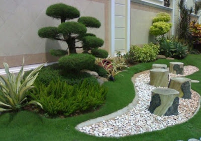 Note the types of plants and natural elements that will be used in the park
