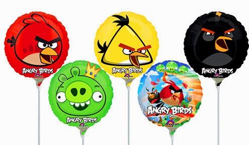 Круглые фольгированные шарики с Angry birds