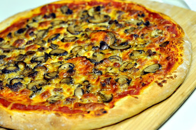 Pizza with Italian Sausage and Mushrooms | Taste As You Go