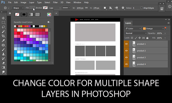 Change color for multiple shape layers in photoshop designeasy ccuart Choice Image