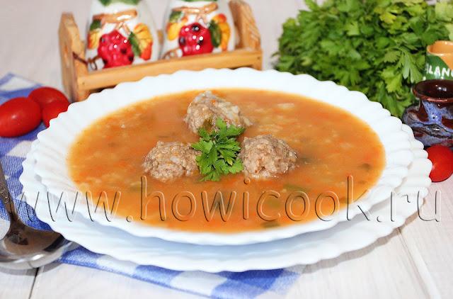рецепт рисового супа-полупюре с фрикадельками