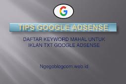 List Keyword Mahal Untuk Google Adsense