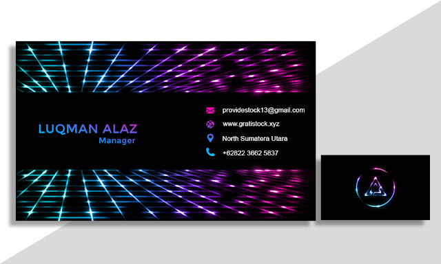 Free Download PSD Light Effects Corporate Business Card.