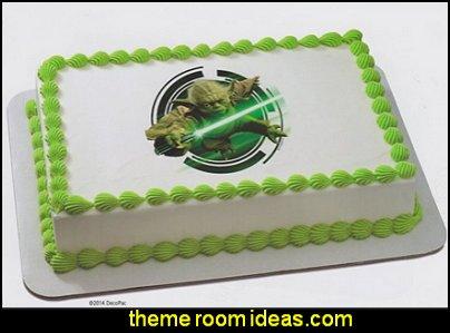 Star Wars Yoda Edible Icing Cake Image