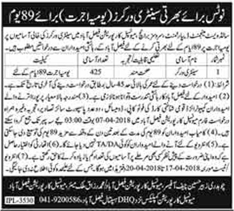 Jobs In Municipal Corporation Faisalabad March 2018