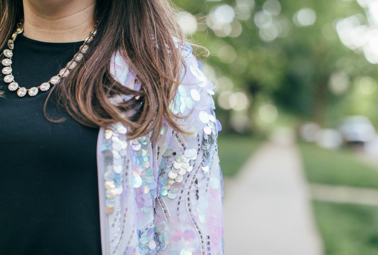 How to Style a Sequin Bomber Jacket