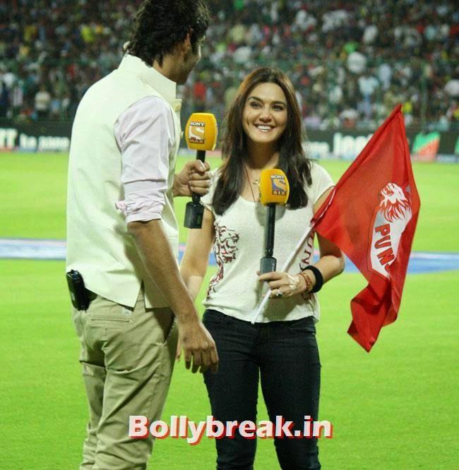 Gaurav Kapur and Preity Zinta, Priety Zinta IPL 2014 Pics