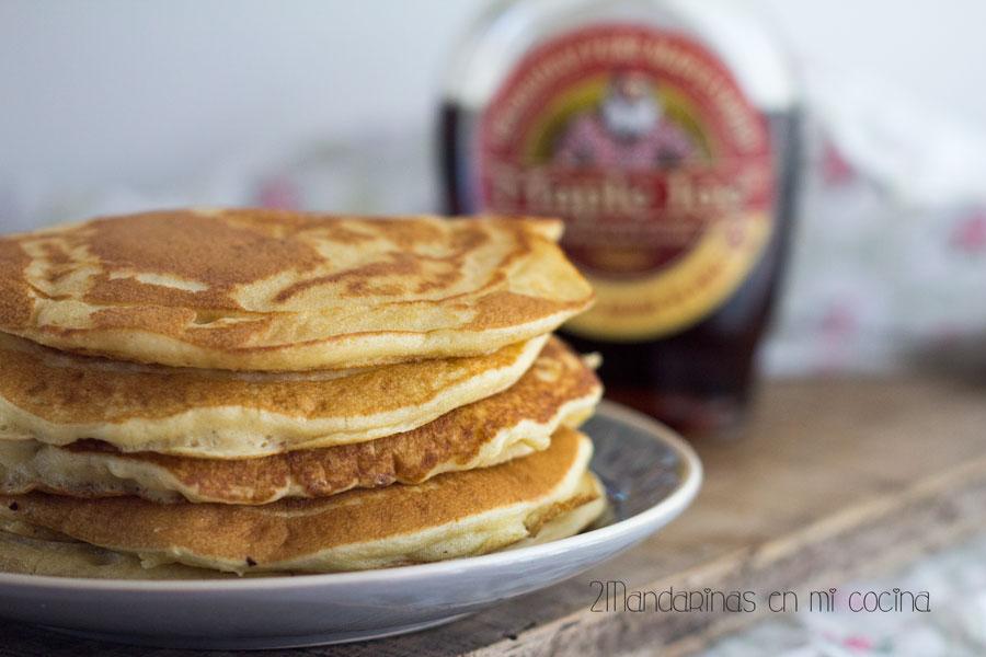 como preparar receta de pancakes. tortitas americanas con thermomix