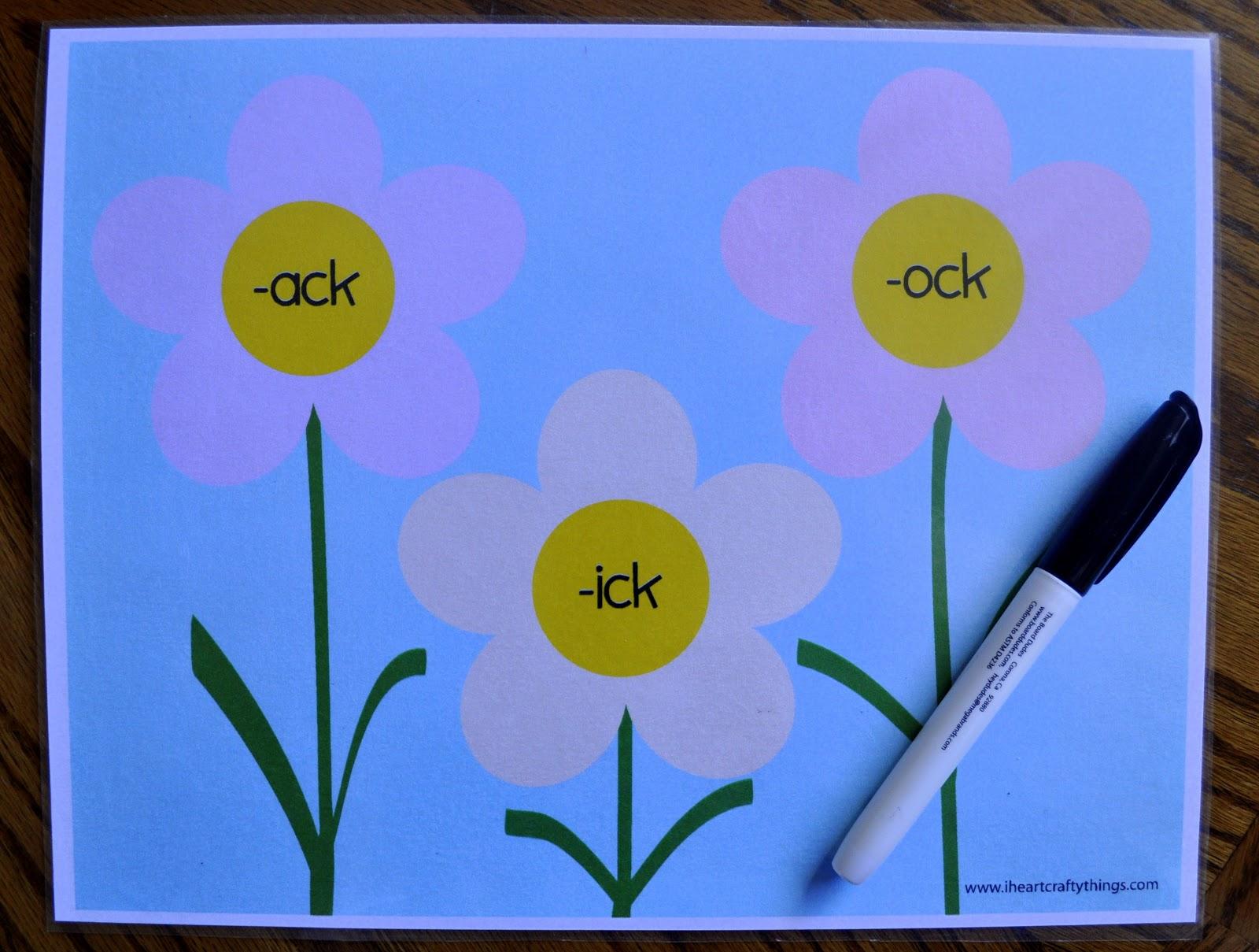 Ck Word Family Practice