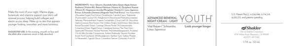 Youth Advance Renewal Night Cream light