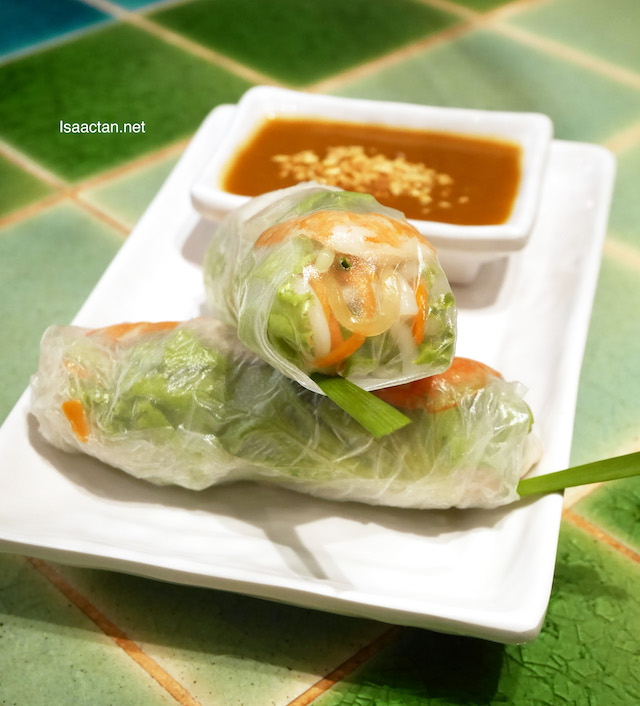 Fresh Summer Rolls with Prawn, Pork Belly & Fresh Herbs - RM8.90
