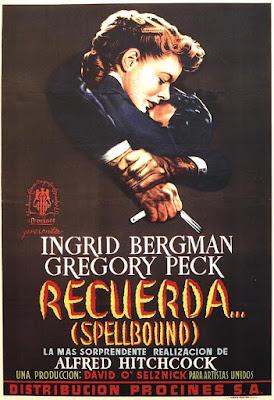 Recuerda (Spellbound) 1945 de Alfred Hitchcock - poster español