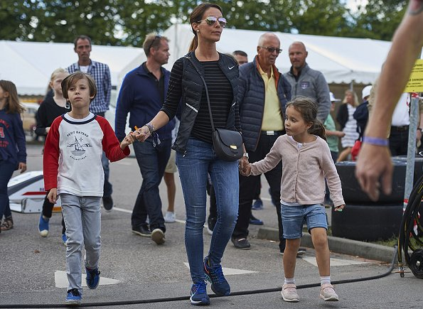 Princess Athena. Princess Marie wore Day Birger Et Mikkelsen Striped Layering Top and Nike Aeroloft quilted shell down gilet