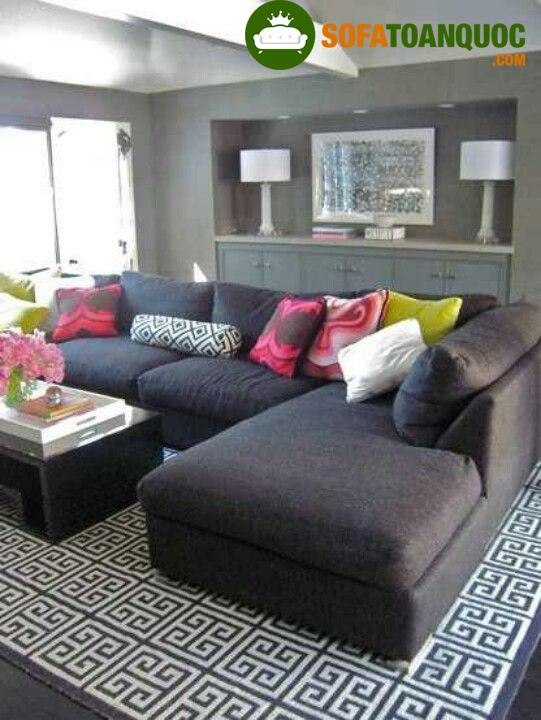 bàn ghế sofa góc da thật cho phòng khách