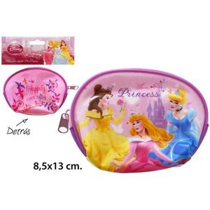 MONEDERO INFANTIL PVC, DISNEY, -PRINCESS-, 8,5X13CM.