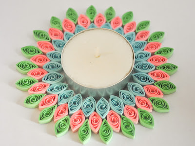 ccute Quilling Paper Diya Holder Collections 2016