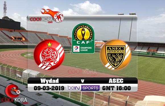 مشاهدة مباراة أسيك ميموزا والوداد اليوم 9-3-2019 دوري أبطال أفريقيا