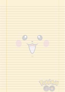 Papel Pautado do Pikachu Pokemon PDF para imprimir na folha A4