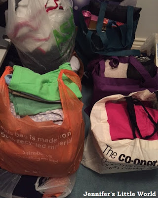 Pile of charity shop bags