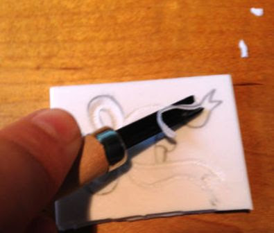 penyayatan karet untuk stamp