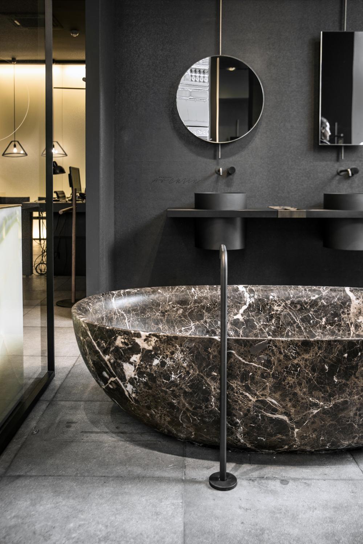 boffi showroom dark mood milan design week. Black Bedroom Furniture Sets. Home Design Ideas