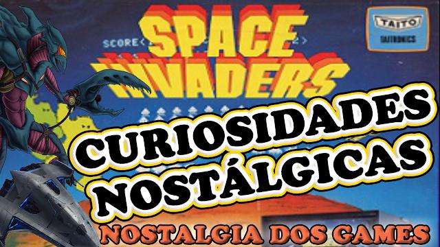 Space Invaders foi um dos jogos que ajudou a popularizar os video games no mundo no final da década de 70 e no inicio dos anos 80. Ate que conhece muito pouco de atari sabe de qual jogo de nave eu estou falando. Mas existem algumas curiosidades e polemicas em torno do  game, e  que voce vai ver aqui e agora no nostalgia dos games. Então embarque na sua missão de assistir o video ate o final, aperte o cinto e deixe aquele LIKE nostalgico porque a viagem no tempo vai começar. Space Invaders foi criado por Tomohiro Nishikado e lançado em 1978 para arcade,  foi um dos primeiros títulos de tiro com gráfico bidimensional e foi licenciado nos EUA pela Midway, é isso mesmo, a mesma empresa que lançaria o mortal kombat anos depois . O jogo space invaders foi inspirado no filme star wars que fez muito sucesso em 1977. Inicialmente o game seria um jogo de tiro convencional na verdade , com avioes ambientes normais mas com o sucesso do filme star wars os criadores se viram obrigados a mudar o roteiro do jogo substituindo os avioes por naves e os obstaculos em alienigenas e graças a isso o jogo se tornou um grande sucesso.  Principamente no japão onde o jogo foi criado. Na época iniciou ate uma lenda no pais conhecida como a lenda da moeda, pois de repente todas as moedas de 100 iens havia sumido dos comercios e dos bolsos das pessoas e ninguem sabia onde haviam ido parar. Conicidentemente eram as mesmas moedas usada nos fliperamas do jogo space invaders que andavam sempre lotados depois do lançamento. Sorte do seu Zé do fliper que deve ta rindo ate hoje .   O jogo ficou tao famoso que 2 anos depois foi lançado para o console caseiro mais famoso da época, o atari 2600. Apesar de ser considerado um dos jogos mais bem-sucedidos do Atari , o título ainda fica atrás do maior fracasso da história do console, que foi o jogo E.T. Em que foram feita milhores de cópias do cartucho mas apenas 1 milhao e meio foram vendidos e o resto está ate hoje enterrados no deserto. Mas com o space inv