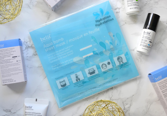belif Aqua Bomb Sheet Mask Review