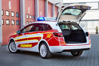 Opel Astra Sports Tourer Feuerwehr Command Vehicle (2016) Rear Side