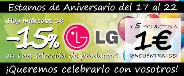 Top 15 ofertas -15% descuento LG Electrocosto