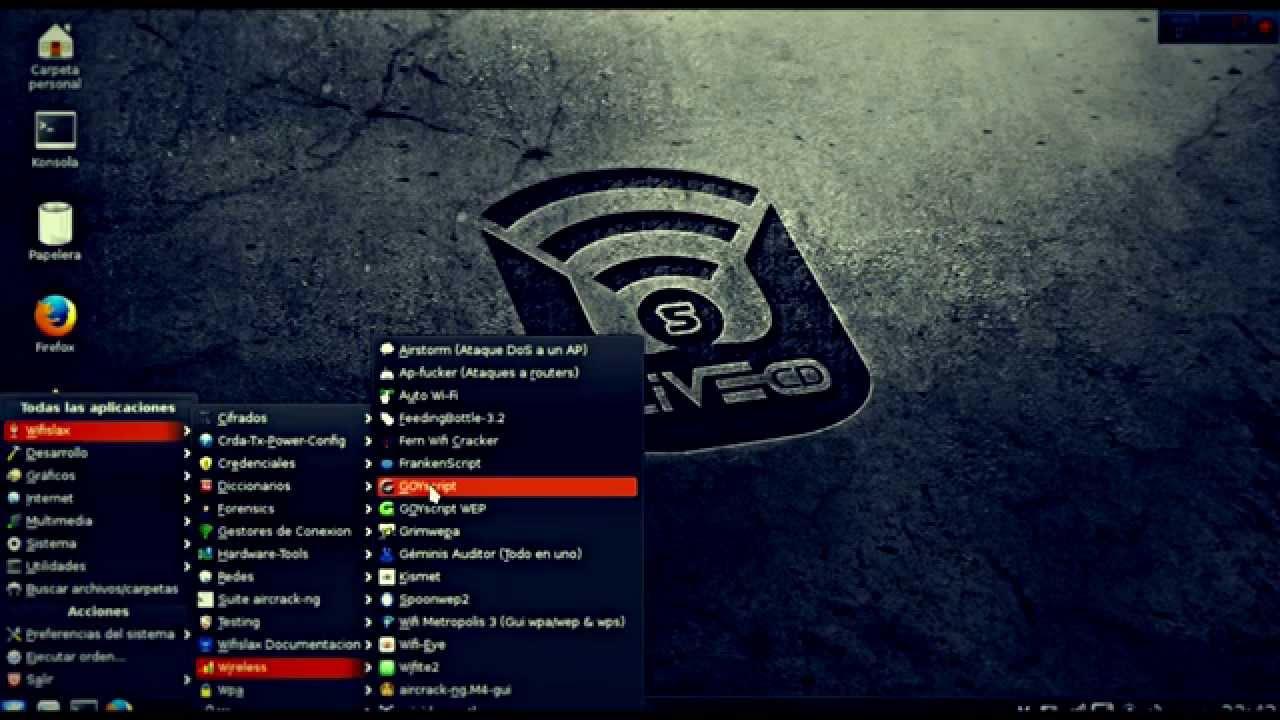 إليك الشرح  الكامل لجميع أدوات نظام الـ Wifislax
