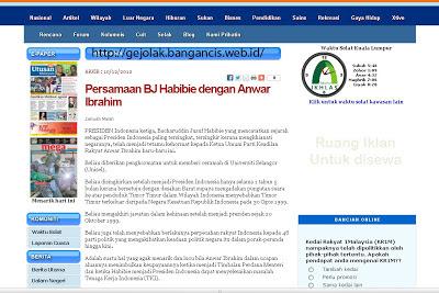 Tulisan Lengkap Malaysia Soal Habibie Jadi Pengkhianat Bangsa
