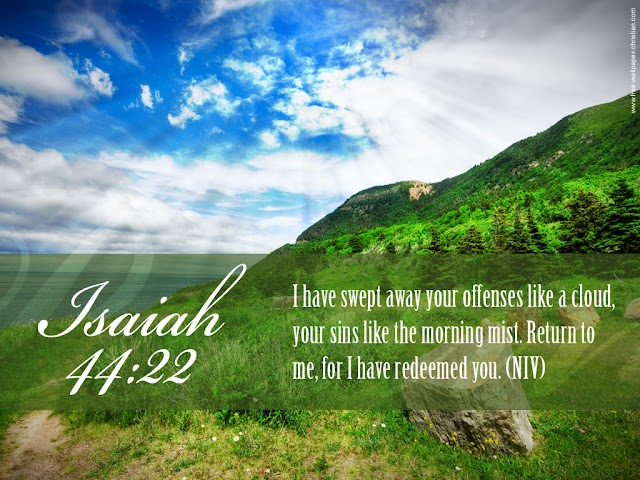 Desktop Bible Verse Wallpaper Isaiah 44 : 22