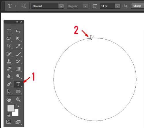 maka kalian akan lebih gampang dalam pembuatan stempel melingkar Cara Praktis Membuat Tulisan Melingkar di Photoshop