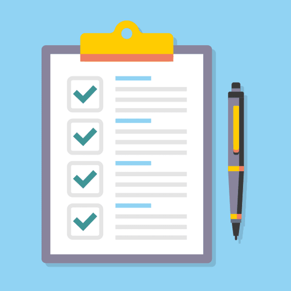 use a checklist to make sure you don't forget anything when preparing website content for production