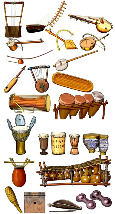 Traditional musical instruments of Africa