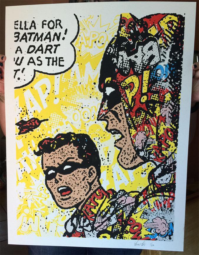 INSIDE THE ROCK POSTER FRAME BLOG: Lance Lester Pop Art Batman Print