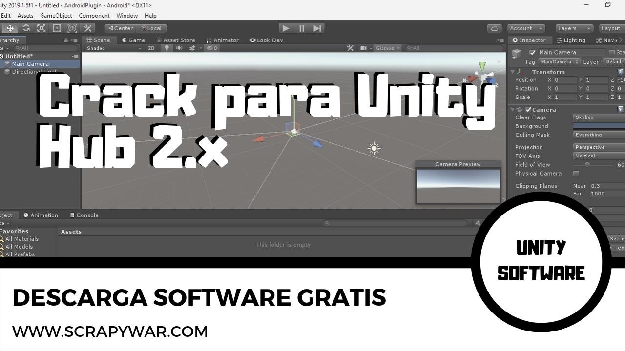 Crack para Unity Hub 2.2.1