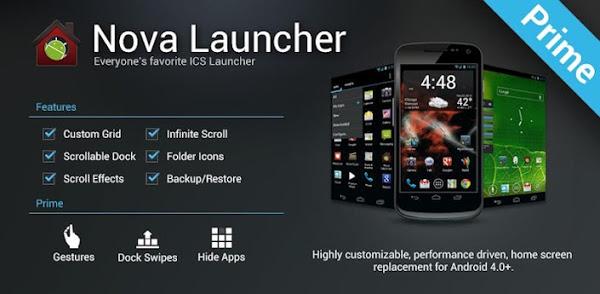 Nova Launcher Prime v5.5.4 Mod Apk