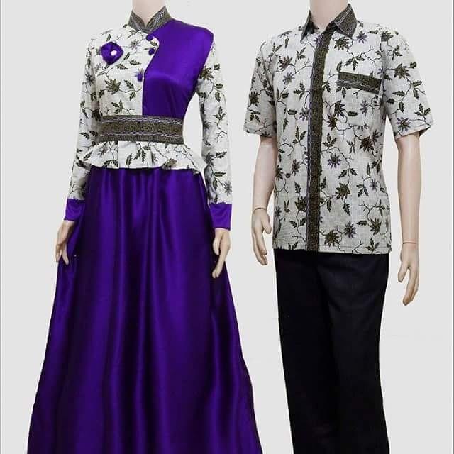 Model Baju Gamis Perpaduan Batik: Model Baju Gamis Batik Wanita Muslimah