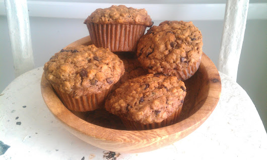 Lavender Oatmeal Chocolate Chip Muffins