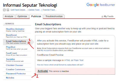 Cara mengatasi Error The feed does not have subscriptions by email enabled