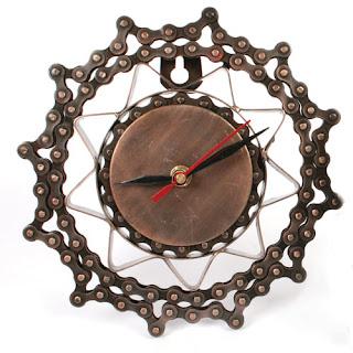 reloj con cadena de bici