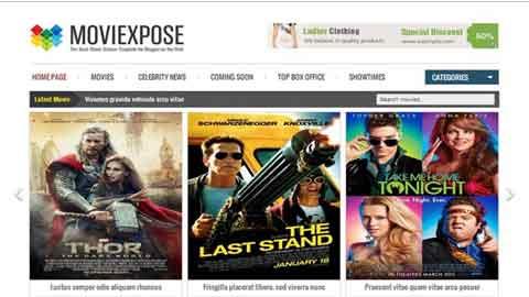 Moviexpose Responsive Blogger Template