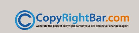 Copyrigh bar creator for website blog
