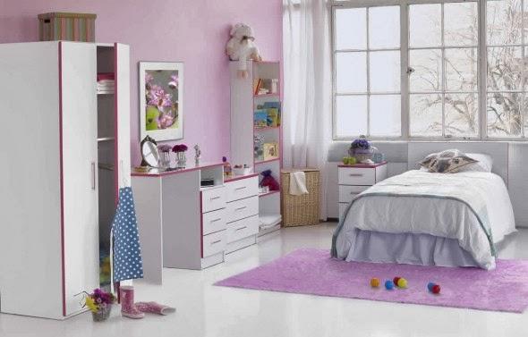 habitación lila niña
