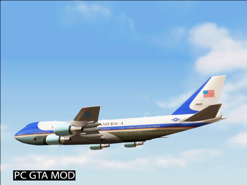 Free Download Boeing VC-25A *Improvements* Mod for GTA San Andreas.